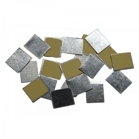 autocolantes quadrados metálicos